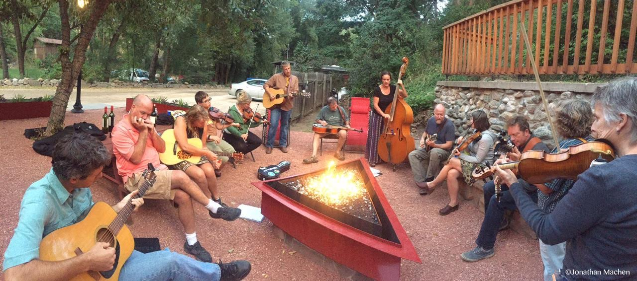 Live music at A-Lodge in Boulder, Colorado