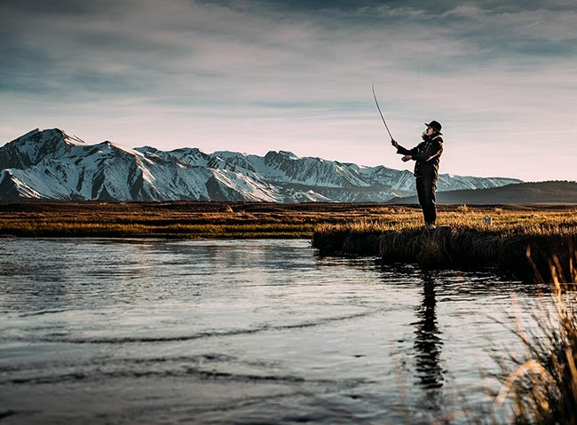 Fly fishing at A-Lodge in Boulder, Colorado
